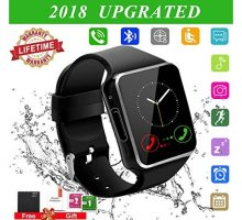 2018 Bluetooth Smart Watch for Andriod phones iphone Smartwatch with CameraWaterpfoof Watch Cell Phone Smart Wrist Watch Touchscreen for Android Samsung IOS Iphone X 87 6 5 Plus Men Women Youth