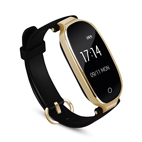 AGPTEK Lady Fitness TrackerSmartwatch Activity Tracker Heart Rate Monitor Smart Bracelet Waterproof IP67 Bluetooth Pedometer Wristband with Sleep Monitor for Android&IOS Black