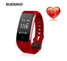 BUENAVO Fitness Tracker S2 Smart Wristband Bracelet IP67 Waterproof Wireless Bluetooth Call Remind Auto Sleep Monitor Sport Pedometer Activity Tracker for Android IOS Phones