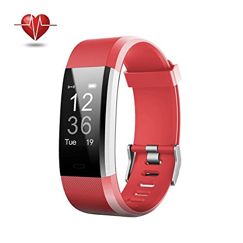 Damusy Fitness Tracker Bluetooth Watch Activity Tracker Smart Band with Heart Rate MonitorWaterproof Bracelet Pedometer Wristband with Calorie Counter Call SMS Remind for Android and iOS