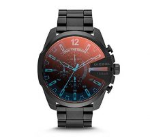 Diesel Men Mega Chief Quartz Stainless Steel Chronograph Watch Color Black