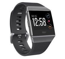 Fitbit Ionic Smartwatch Charcoal Smoke Gray One Size