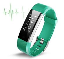 Fitness Activity Tracker ID115 Fitness Tracker with Heart Rate monitor Activity Tracker Waterproof Bluetooth Smart Watch Wireless Smart Bracelet Sleep Monitor Pedometer Wristband