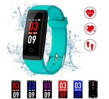 Fitness TrackerKirlor New Version Colorful Screen Smart Bracelet with Heart Rate Blood Pressure MonitorSmart Watch Pedometer Activity Tracker Bluetooth for Android & iOS