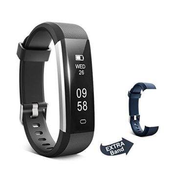 ForEverFit Fitness Tracker Waterproof Activity Tracker Sleep Monitor Pedometer Step Counter Smart Watch Bracelet Bluetooth Wristband for Kids Women Men Extra Replacement Band