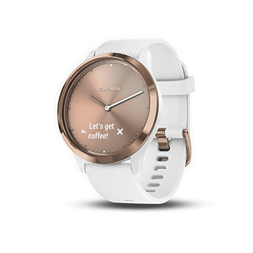 Garmin vívomove HR Sport Hybrid Smartwatch  Rose Gold S M