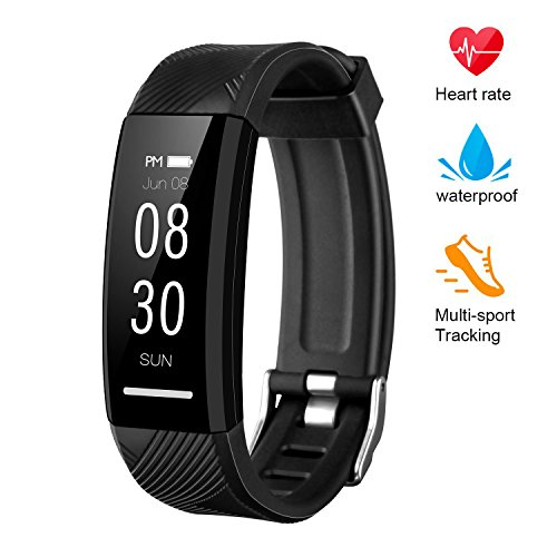 instecho Fitness Tracker Custom Activity Tracker with Heart Rate Monitor Multiple Sport Modes Smart Watch Men Women and Children Waterproof Bluetooth Pedometer