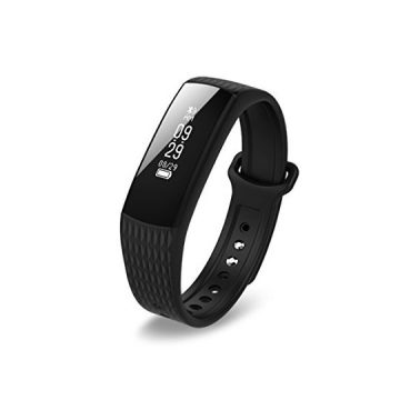 Kimitech Fitness Tracker Watch Waterproof Sleep Monitor Wristband Activity Wristband Bluetooth Smart Bracelet Pedometer Heart Rate Monitors for Android and iOS