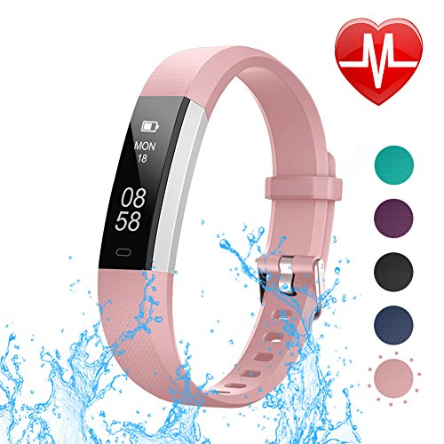 LETSCOM Fitness Tracker with Heart Rate Monitor Slim Sports Activity Tracker Watch Waterproof Pedometer Watch with Sleep Monitor Step Tracker for Kids Women and Men