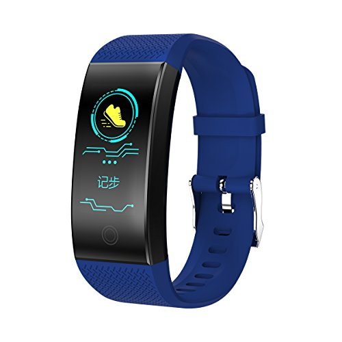 Original Stock Bluetooth Smartwatch Smart Watch Wristband Bracelet Band Heart Rate Smartband Activity Tracker Fitness for IOS Android Blue