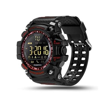 ROADTEC Digital Sport Smart Watches for MenBluetooth 40 Fitness Tracker Watch 5ATM IP67 Waterproof Support Call SMS Notification Pedometer Remote Camera for iOS Android