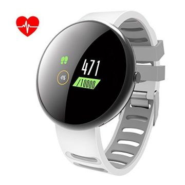 ROADTEC Smart Watches for Men Women Fitness Tracker Watch with Heart Rate MonitorIP67 Waterproof Activity Tracker with Calorie Pedometer Sleep Monitor for Android