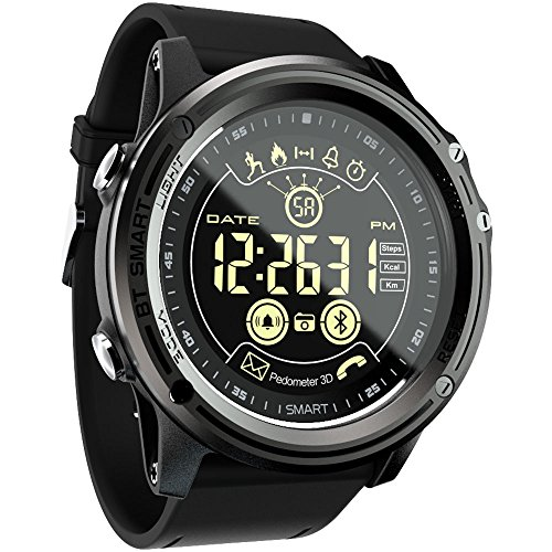Sports Digital Smart Watch  LOKMAT Men Boys Waterproof Bluetooth Smart Wrist Watch Smartwatch with Walking CaloriesRemote Camera Call SnS SMS Reminder for iOS and Android Smartphone
