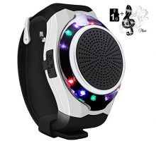 SVPRO Portable Wireless Bluetooth Speaker WatchConvenient Multifunctional Intelligent Bracelet with MP3 Music PlayerHandsfree call Radio Supporting USB TF Card and Taking Photoes