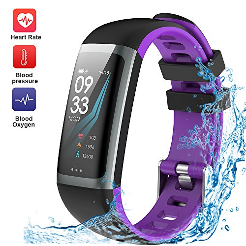 WELTEAYO Fitness Tracker Activity Tracker Watch with Heart Rate Monitor Color Screen Smart Bracelet with Sleep Monitor IP67 Waterproof Smart Bracelet for Android and iOS