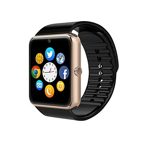 ZAOYI Smartwatch GT08 Bluetooth Smart Watch with Camera SIM Card TF SD Card Slot Call Sync Notifier and Smart Health Watch for Iphone and Android Smartphones
