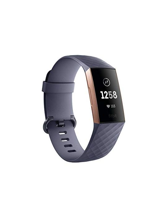 Fitbit Charge 3 Fitness Activity Tracker Rose Gold Blue ...