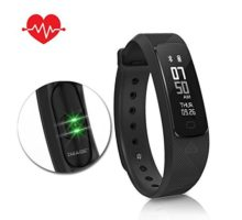 Fitness Tracker HR Activity Tracker with Heart Rate Monitor Watch IP68 Waterproof Smart Wristband with Calorie Counter Watch Pedometer Sleep Monitor for Kids Teenagers and Adults(Black)
