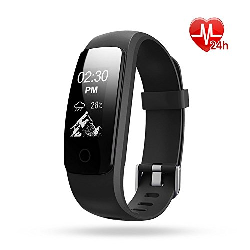 Fitness Tracker with Heart Rate Monitor  ETCBUYS H7HR Activity Tracker Wireless Bluetooth Smart Wristband Bracelet for Men and Women Fitness Watch with Extra Band for Android & iOS