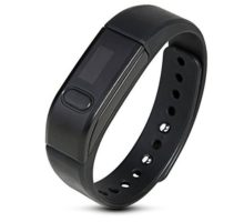 Joso Ultra Light Wireless Bluetooth 40 IP65 Wristband Smart Watch w Health Sport Monitoring Pedometer Sleep monitoring Sedentary Reminder Call Reminder for Android IOS SmartphoneBlack
