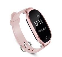 AGPTEK Lady Fitness TrackerSmartwatch Activity Tracker Heart Rate Monitor Smart Bracelet Waterproof IP67Bluetooth Pedometer Wristband Control MusicSleep Monitor Android&iOS Rose Gold