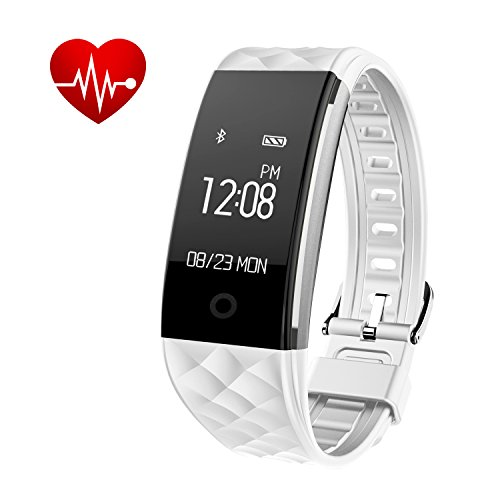 Bloranda Fitness Tracker Smart Wristband Bracelet IP67 Waterproof Wireless Bluetooth Activity Heart Rate Sleep Monitor Pedometer Sport Watch for Android and IOS