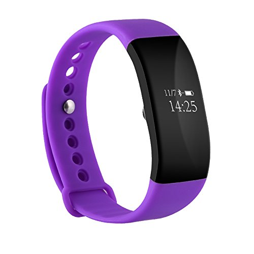 Fitness Tracker Heart Rate Monitor Waterproof Activity Health Tracker Bluetooth Wireless Smart Bracelet with Pedometer Sleep Monitor and Step Calorie Counter By Diaduchi