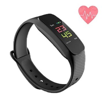 Fitness Tracker Waterproof Activity Tracker Smart Bracelet with Pedometer Sleep Monitor Bluetooth Wireless Smart Bracelet with Replacement Belt Android and iOS