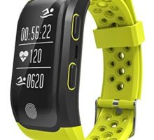 GPS Sports Watch Heart Rate Monitor Waterproof Fitness Tracker Bluetooth Smart Bracelet Yellow