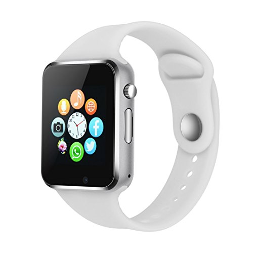 Smart Watch  321OU Touch Screen Bluetooth Smart Watch Smartwatch Phone Fitness Tracker with SIM SD Card Slot Camera Pedometer for iPhone iOS Samsung LG Android for Women Men Kids