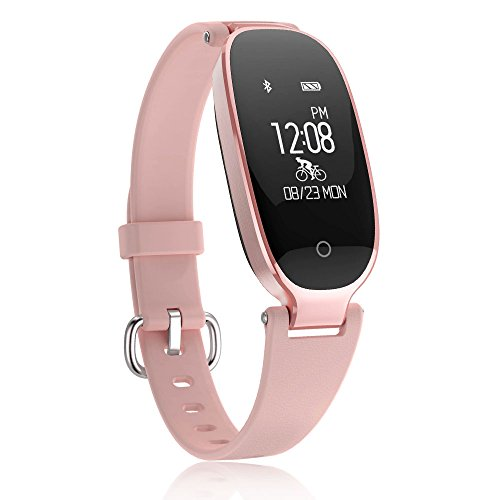 TOPMAX Fitness TrackerWomen Sport Tracker Smart Heart Rate Monitor Watch Band BraceletWomen Swimming Waterproof Wristband Watch with Health Sleep Activity Tracker Pedometer for Smart Phone