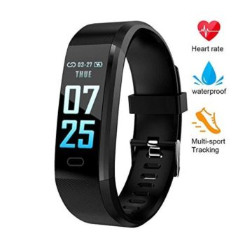XZHI Fitness Tracker HRColor Screen Activity Tracker Watch with Blood Pressure IP67 Waterproof Smart Band with Heart Rate Sleep Monitor Calorie Counter Pedometer for Men Women and Kids
