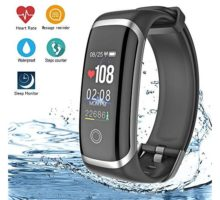 AIBODINI Fitness Tracker Activity Tracker with Heart Rate Tracking Sleep Monitor Pedometer Smart Bracelet Bluetooth IP67 Waterproof Color Screen for Adult Kids iOS Android Phone