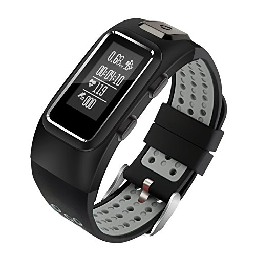 Diggro DB10 Smart Bracelet Buildin GPS Tracker 20 days Standby Time Four Sport Modes Heart Rate Monitor IP68 Waterproof Bluetooth 40 Calling Message Reminder for Android & iOS(Black+Grey)