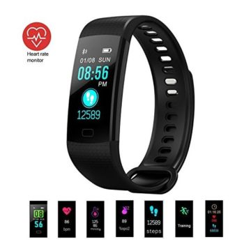 Fitness Tracker Activity Tracker Fitness Watch with Heart Rate Monitor Color ScreenWaterproof Smart Bracelet with Step CounterCalorie CounterPedometer for Kids Women Men Android iOS