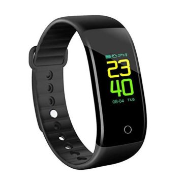 KINGBERWI Fitness Tracker Color Screen Activity Tracker with Heart Rate Monitor Waterproof Sleep Monitor Watch Smart Bracelet with Pedometer for Kids Women and Men Android iOS