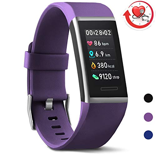MorePro Fitness Tracker HR Color ScreenWaterproof Activity Tracker with Heart Rate Blood Pressure Monitor Step Counter Sleep MonitorPedometer Watch Men Women