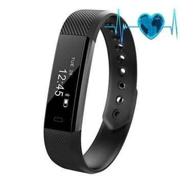 New New Fitness Tracker Waterproof Activity Tracker with Heart Rate Monitor Bluetooth Smart Watch Wireless Smart Bracelet Sleep Monitor Pedometer Wristband for Android and iOS Smartphone
