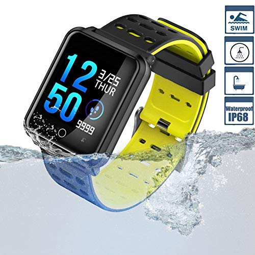 Smart Watch TagoBee TB06 IP68 Fitness Tracker for Swimming Bluetooth Waterproof Activity Tracker Smart Bracelet for Men Women Kids Smart Band Suport Pedometer Step Counter Blood Pressure Heart