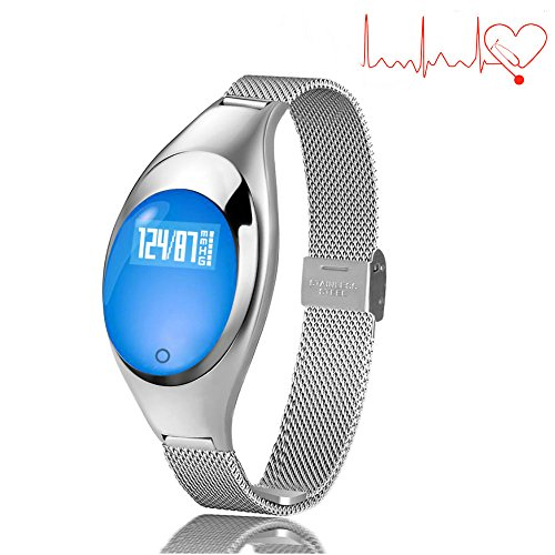 TKSTAR Smart Band Fitness Tracker for Women Blood Pressure Waterproof Bluetooth 40 Smart Bracelet Sleep Monitor Sync Phone Rechargeable for Android Apple Samsung  Z18