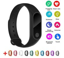 Aihome IP67 Smart Bracelet Black M2 Bluetooth 40 Waterproof Dust Proof Sport Wrist Bracelet Fitness Tracker WatchCalorie Counter Watch GPS Band