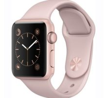 Apple Watch Series 1 Smartwatch 38mm Rose Gold Aluminum Case Pink Sand Sport Band