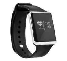Bebinca Bluetooth Smart BraceletSmart WatchBlood Pressure and Heart Rate MonitorPedometerCalorie Counter Black
