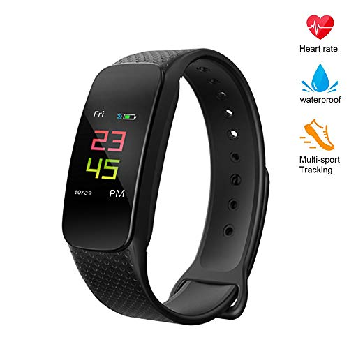 Fitness Tracker Waterproof Heart Rate Monitor Activity Tracker Bluetooth Wearable Wristband Wireless Step Counter Smart Bracelet Watch for Android and iOS Smartphones