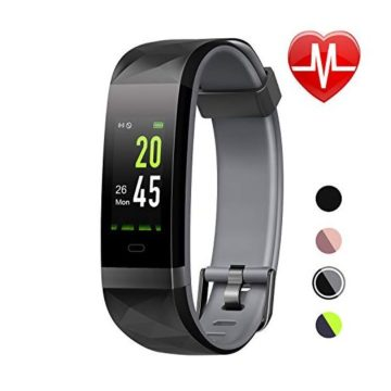 LETSCOM Fitness Tracker HR Color Screen Heart Rate Monitor IP68 Waterproof Smart Watch with Step Counter Sleep Monitor Pedometer Watch for Men Women Kids