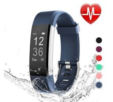 LETSCOM Fitness Tracker HR Heart Rate Monitor Watch IP67 Waterproof Activity Tracker with Step Counter and Sleep Monitor Pedometer Watch Smart Wristband for Kids Women and Men