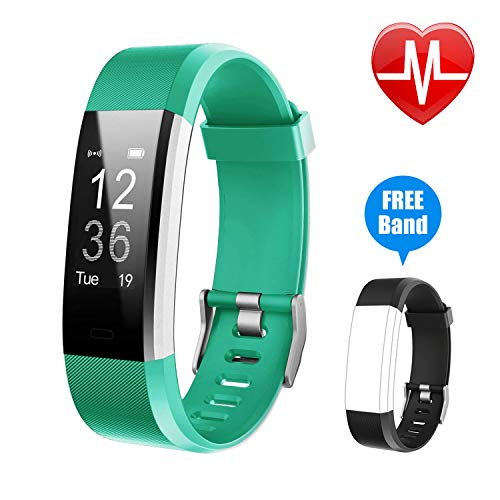 Letsfit Fitness Tracker HR Activity Tracker Watch with Heart Rate Monitor IP67 Water Resistant Smart Bracelet with Calorie Counter Pedometer Watch for Android and iOS