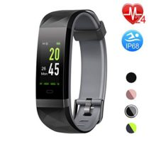 Letsfit Fitness Tracker HR Color Screen Heart Rate Monitor Watch Smart Activity Tracker Watch IP68 Waterproof Step Calorie Counter Sleep Monitor Pedometer Watch for Women Men Kids