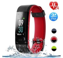 Letsfit Fitness Tracker with Heart Rate Monitor Color Screen Smart Watch with Sleep Monitor Step Counter Calorie Counter IP68 Waterproof Pedometer Watch for Kids Women Men