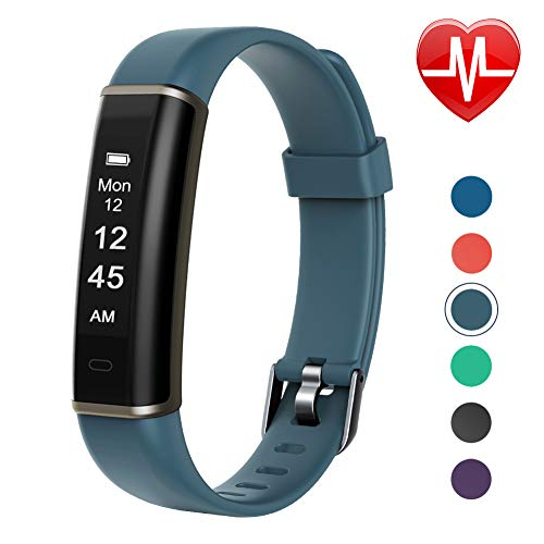 Letsfit Fitness Tracker with Heart Rate Monitor Pedometer Watch Waterproof Smart Watch Activity Tracker with Step Counter Sleep Monitor Step Tracker for Kids Women and Men